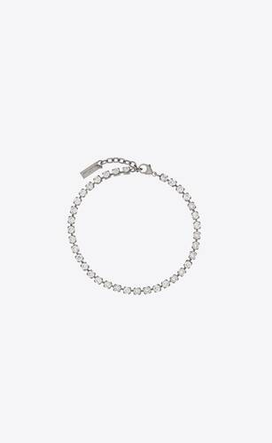 smoking crystal anklet in metal