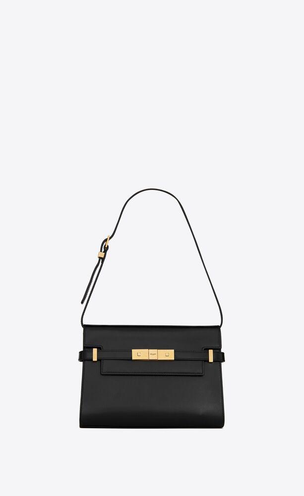 manhattan small shoulder bag in box saint laurent leather