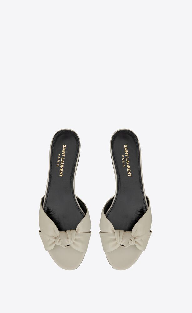 bianca flat mules in smooth leather