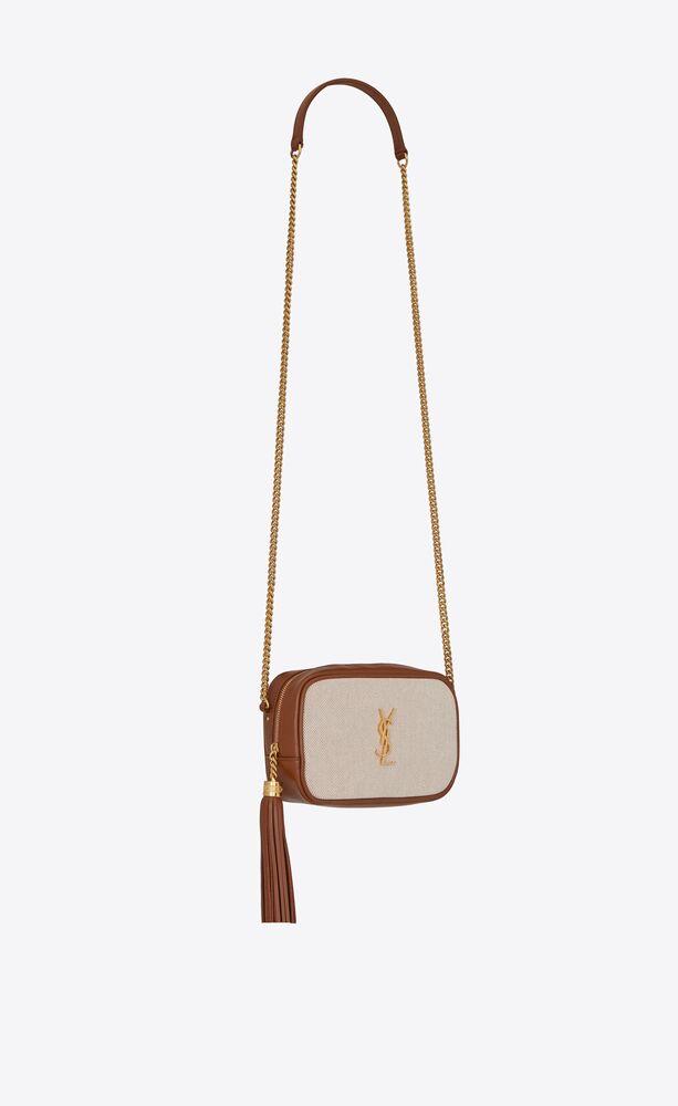 lou mini-tasche aus canvas und glattleder