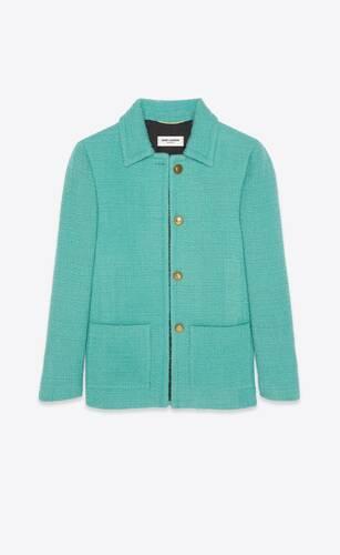 veste en tweed à carreaux