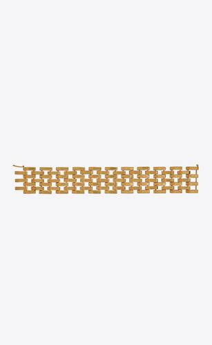 panther-chain bracelet in 18k yellow gold