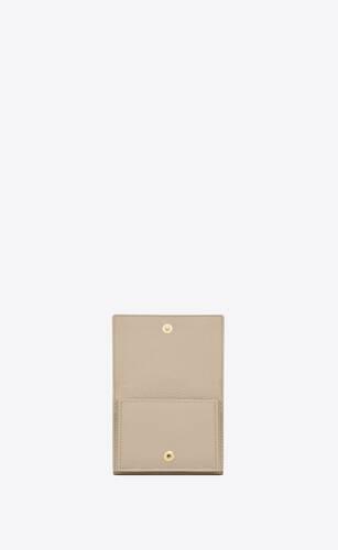 extrakleines portemonnaie aus genarbtem leder