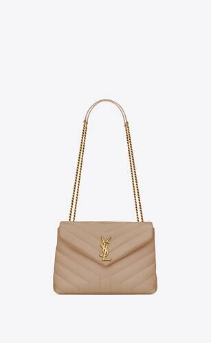 "loulou small in quilted ""y"" leather"