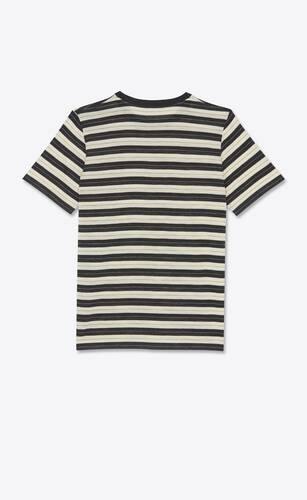 striped monogram t-shirt in wool jersey