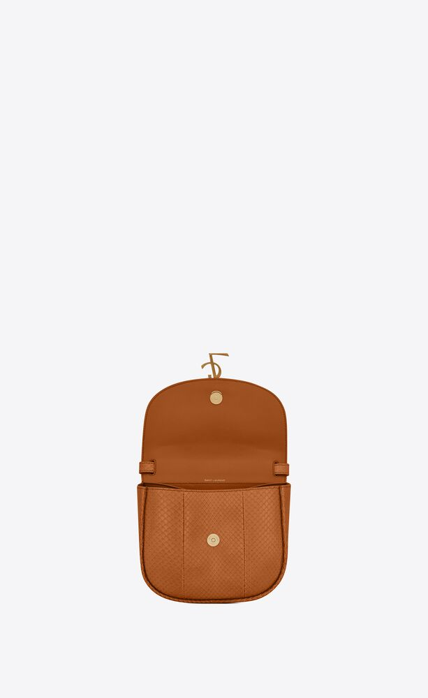 kaia small satchel in lacquered ayers