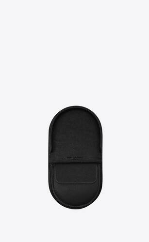 coin purse in grain de poudre embossed leather