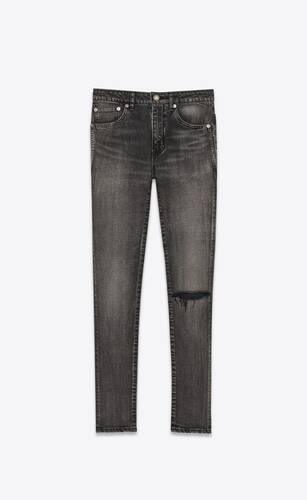jean skinny taille mi-haute en denim stretch medium carbon