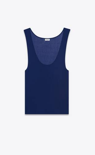 tank top in ribbed jersey crepe