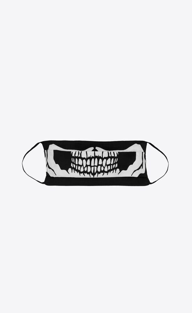 skeleton print silk face mask