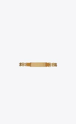 double-chain id bracelet in 18k yellow gold