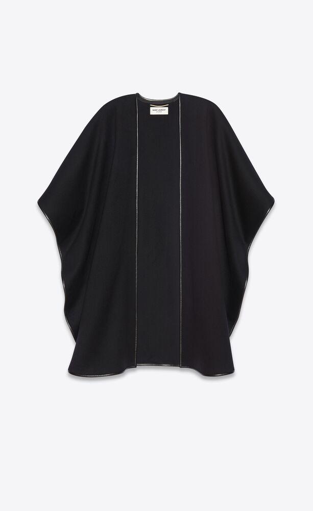 cape oversize en flanelle de laine et cachemire