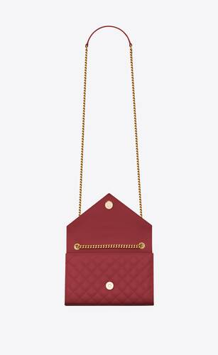 envelope small bag in mix matelassé grain de poudre embossed leather