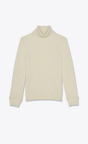 캐시미어 소재의 생로랑 터틀넥 스웨터