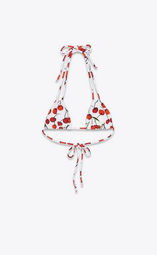 triangle with cherry print