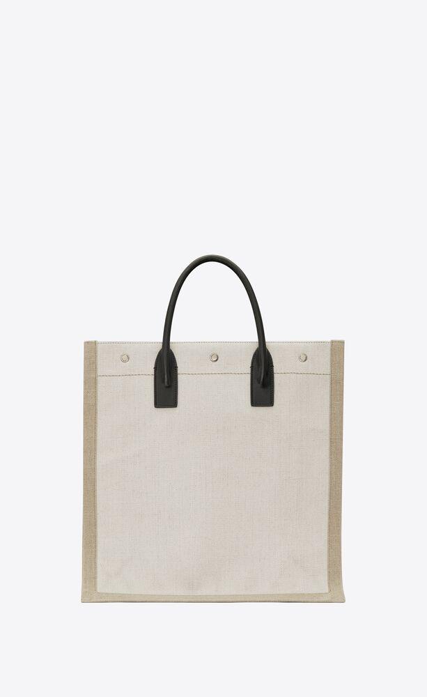 bolso shopper rive gauche north/south de lino y algodón