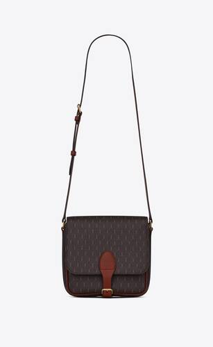 le monogrammemedium buckle satchel in canvas and smooth leather
