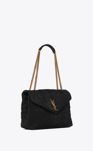 loulou medium bag in y-quilted suede