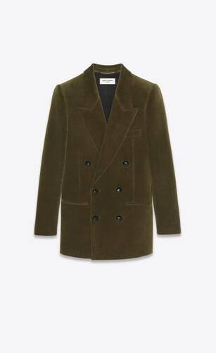 double-breasted corduroy jacket