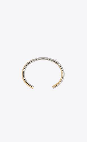 small twist cuff bracelet in metal