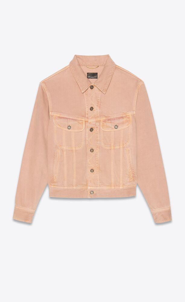 jacket in glowy pink ozone denim