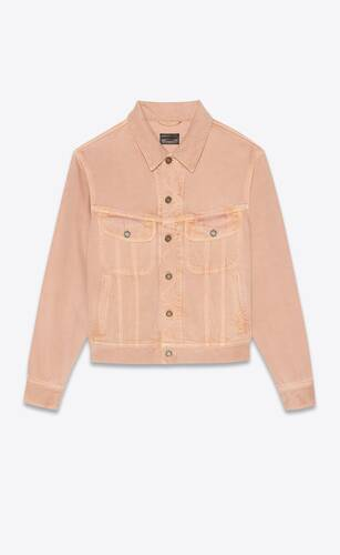 jacket in glowy pink ozone denim