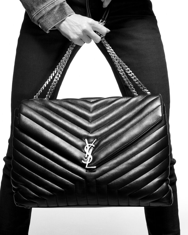"""loulou large in """"y"""" matelassé leather"""
