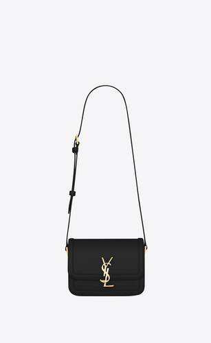 bolso cruzado solférino small de piel box saint laurent