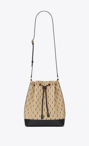 monogram bucket bag en toile