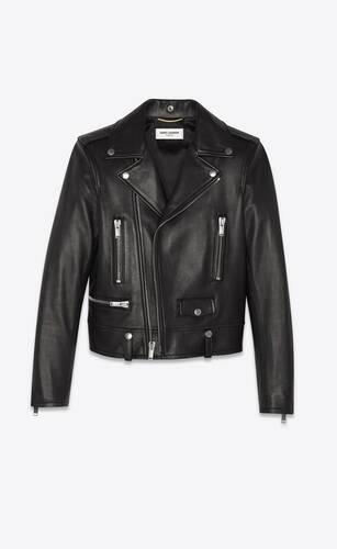 motorcycle jacket in lambskin