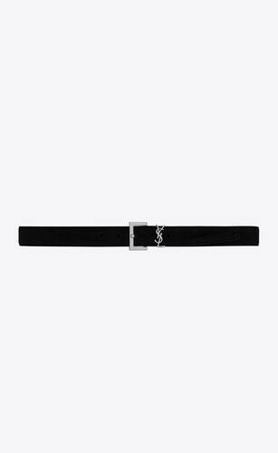monogram belt in suede