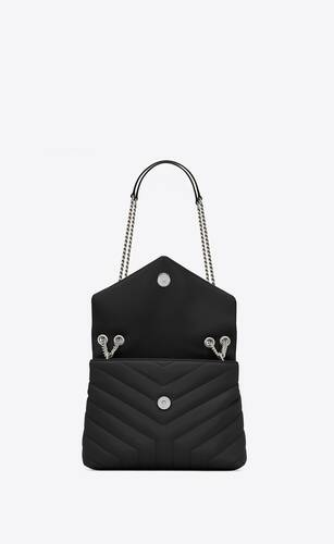 """loulou small in quilted """"y"""" leather"""