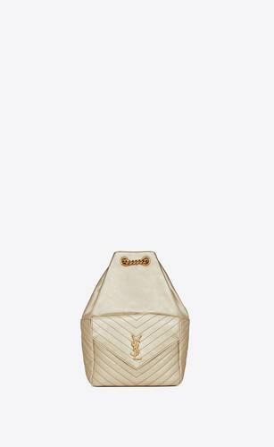 joe backpack in lamé leather