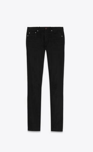 skinny-fit jeans in used black denim
