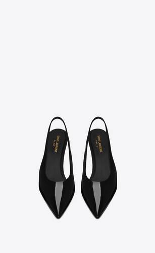 viper slingback pumps in patent leather