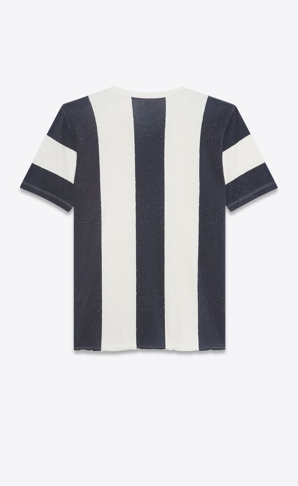 striped saint laurent rive gauche t-shirt