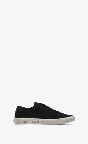 sneakers malibú de lona y piel