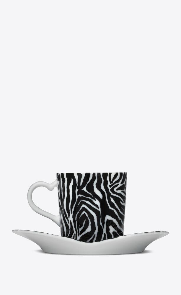 j.l coquet zebra coffee set in porcelain