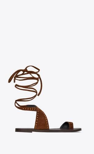 sandali gia in suede con borchie