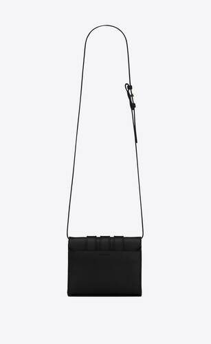 3-buckles satchel in smooth leather