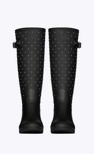 hunter high boots in rubber with studs