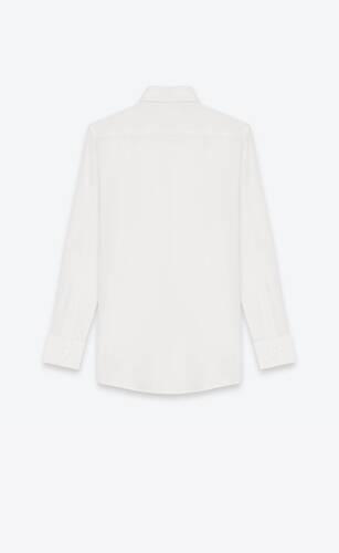 shirt in white silk crêpe