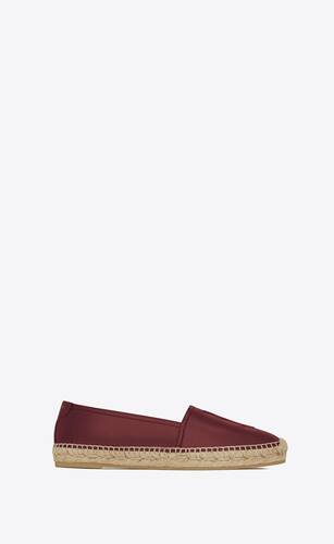 espadrille in light burgundy leather