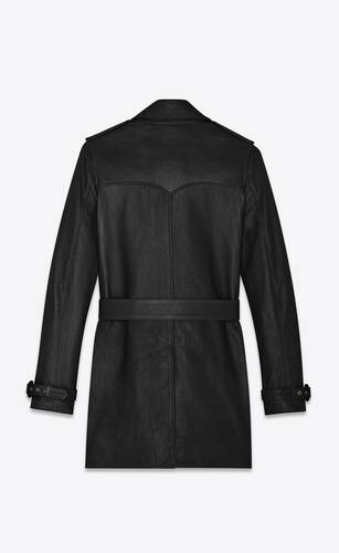 classic trench coat in lambskin