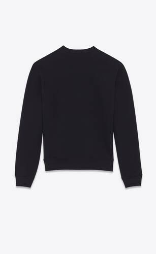 "sweatshirt mit ""saint laurent""-herz"