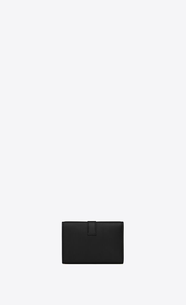 ysl line key pouch in smooth leather
