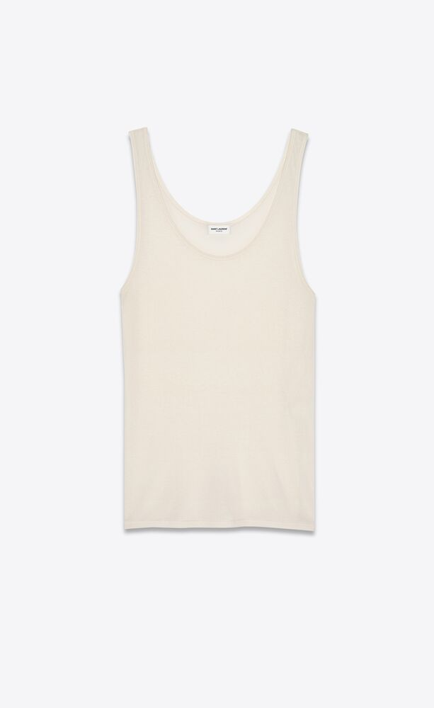 tank top in ivory jersey