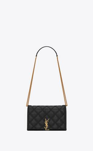becky chain wallet in quilted lambskin