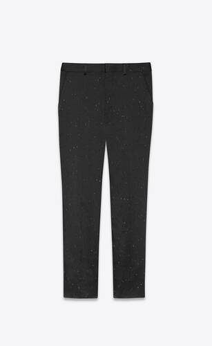 striped straight-leg pants in flecked flammé