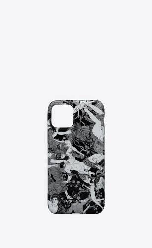 "iphone 12 pro case in ""scandal"" printed silicone"